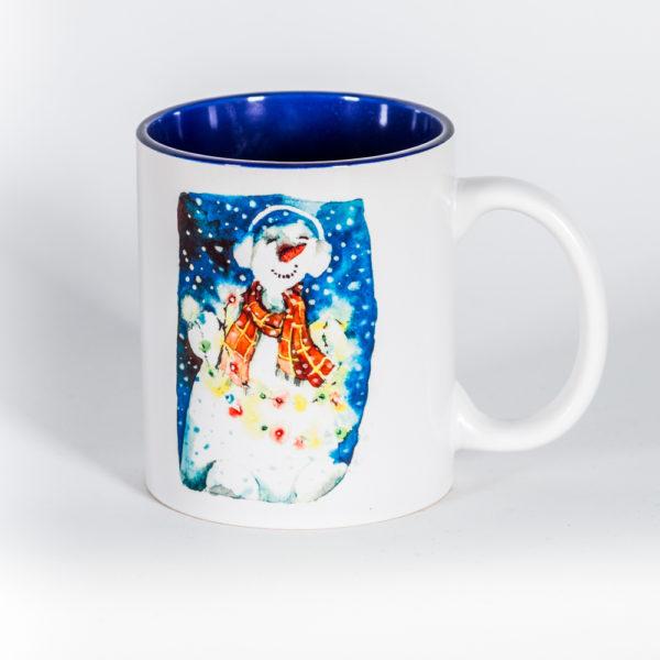 Кружка «Снеговик-меломан»
