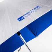 Легкий и надежный зонт с двухцветным покрытием