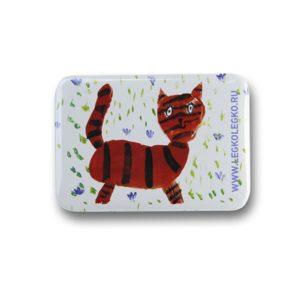 Значок Кот в эдельвейсах