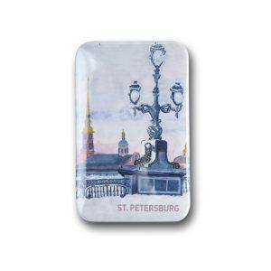 Значок Петропавловская крепость зимой