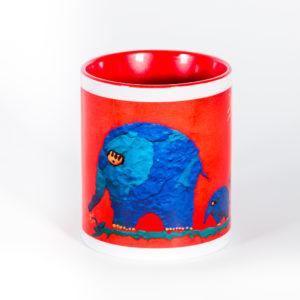 Кружка «Сиреневые слоны»