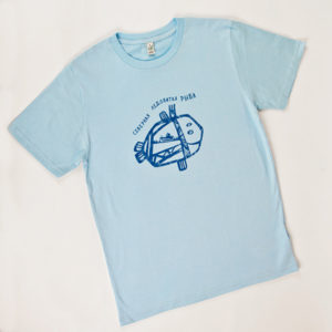 мужская футболка из хлопка Северная Ледовитая Рыба