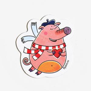магнит виниловый Свинка Софи Летающие звери
