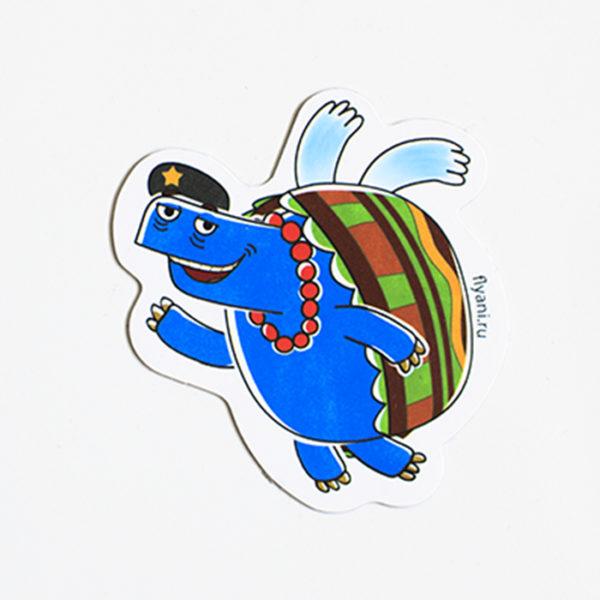 виниловый магнит Черепаха Че Летающие звери