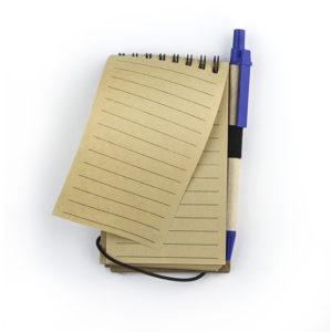 блокнот эко с ручкой на кольцах