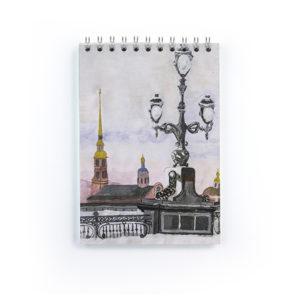 Блокнот Петропавловская крепость зимой