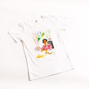 футболка Девочка с персиками