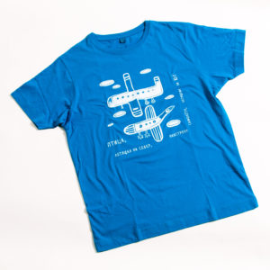 футболка птица-самолет