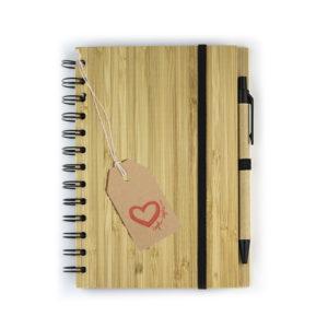 Блокнот с обложкой из бамбука