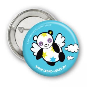 Значок Летающая панда
