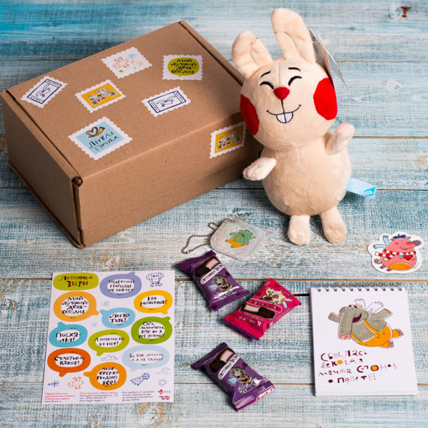 подарки с возможностями набор заяц и слон