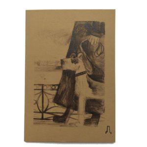 блокнот а 5 для зарисовок Сергей Довлатов с Глашей