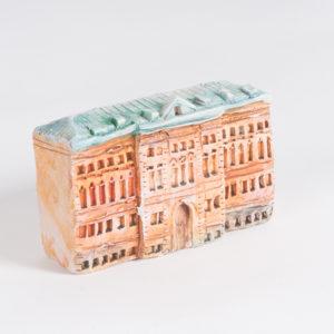 керамическая миниатюра ручной работы Миллионная улица, дом 19 (2)