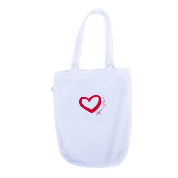 сумка из экохлопка Сердце