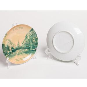 декоративная тарелка с видами Петербурга