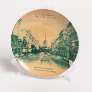 декоративная тарелка с видом Невского проспекта