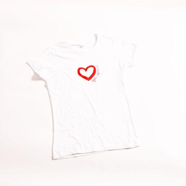 футболка Сердце  из 100% хлопка