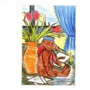 открытка Ленинградский мишка