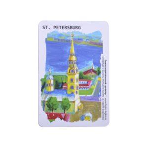Магнит виниловый Петербург  с  высоты  птичьего  полета