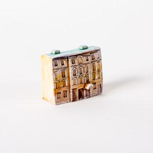керамическая миниатюра ручной работы Миллионная  улица, дом 10