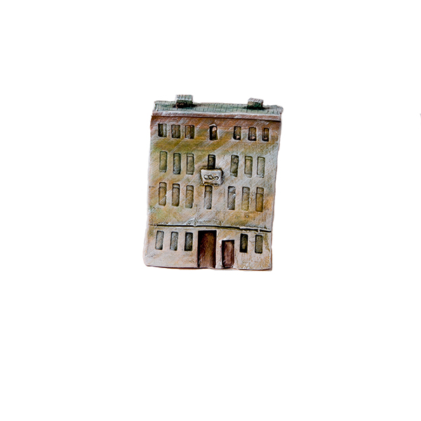 керамическая миниатюра ручной работы Миллионная  улица, дом 9