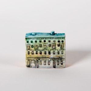 керамическая миниатюра ручной работы Невский проспект, дом 19