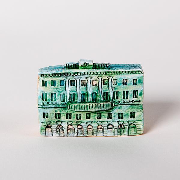 керамическая миниатюра ручной работы Невский проспект, дом 27