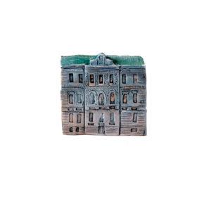 керамическая миниатюра ручной работы Миллионная  улица, дом 18
