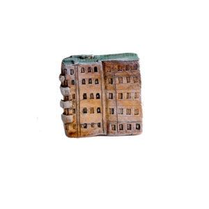 керамическая миниатюра ручной работы Миллионная  улица, дом 20