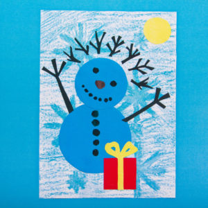Открытка Радость снеговика