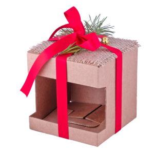 новогодняя коробка для кружки