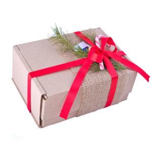 новогодняя коробка средняя