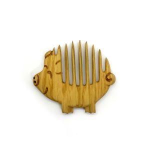 Деревянный гребень «Свинка»