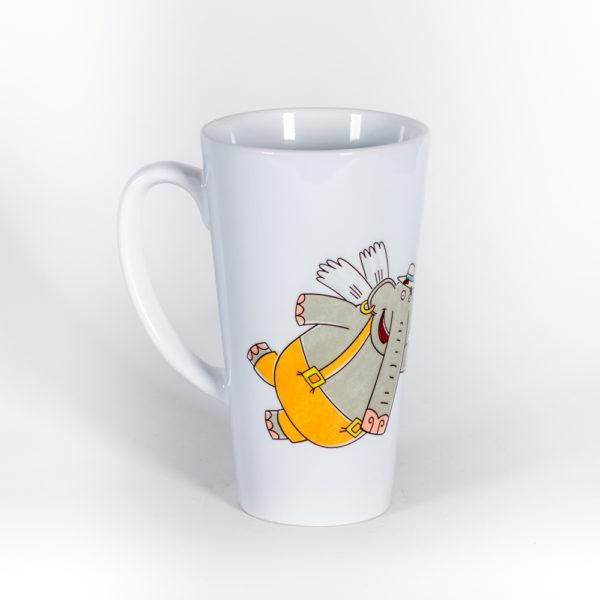 Кружка для латте «Слон Прабу»