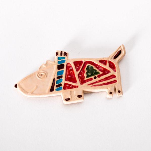 Керамический магнит «Собака в свитере»