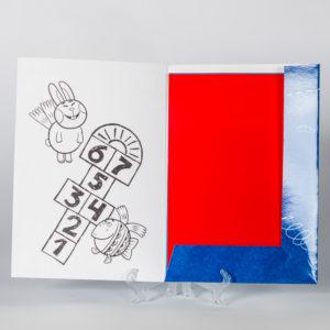 Набор цветной бумаги «Летающие звери»