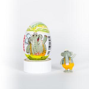 Шоколадное яйцо с игрушкой «Летающие звери»