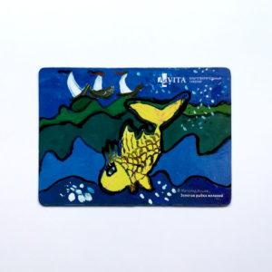 Магнит «Золотая рыбка желаний»