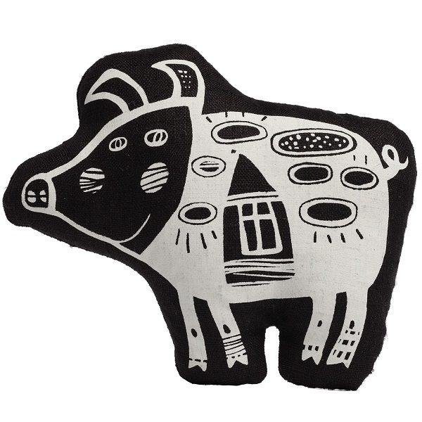 Игрушка «Свинка, витающая в облаках» (черная)