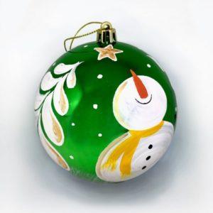 Новогодний шар «Веселый снеговик»