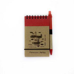 Эко-блокнот с ручкой «Птица-самолёт»