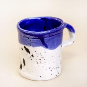 Кружка «Синяя с черными брызгами»