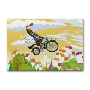 Открытка «Лошадь Джейн на велосипеде»