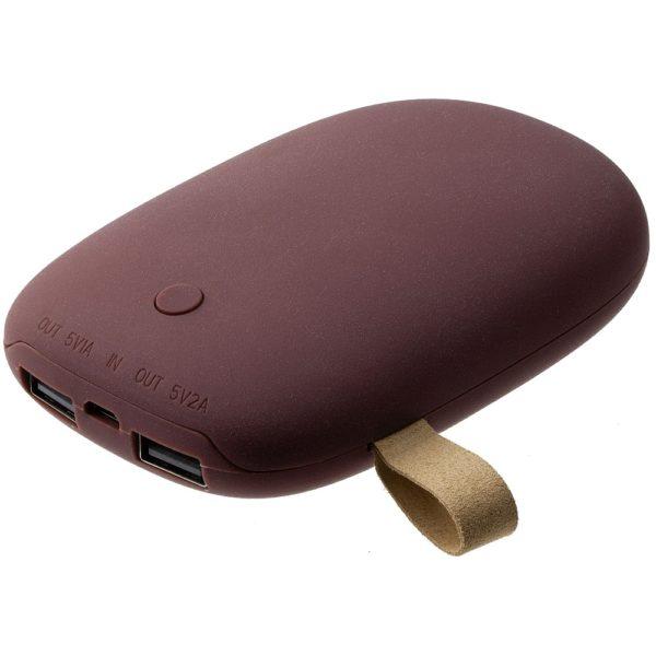Внешний аккумулятор «Камень», 7800 мАч винный